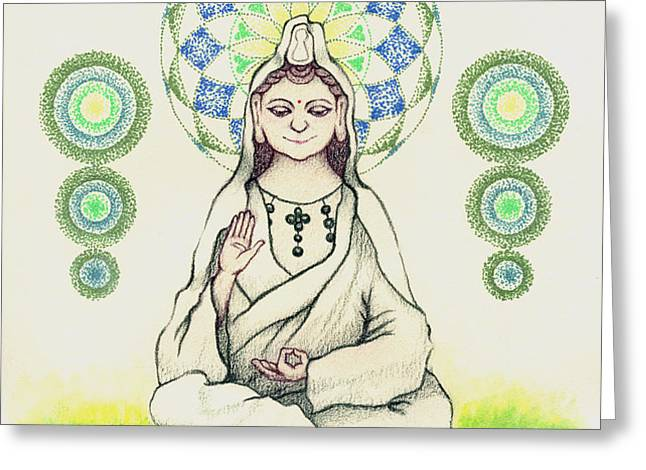 FUREAI Quan Yin in Kyoto Greeting Card by Keiko Katsuta