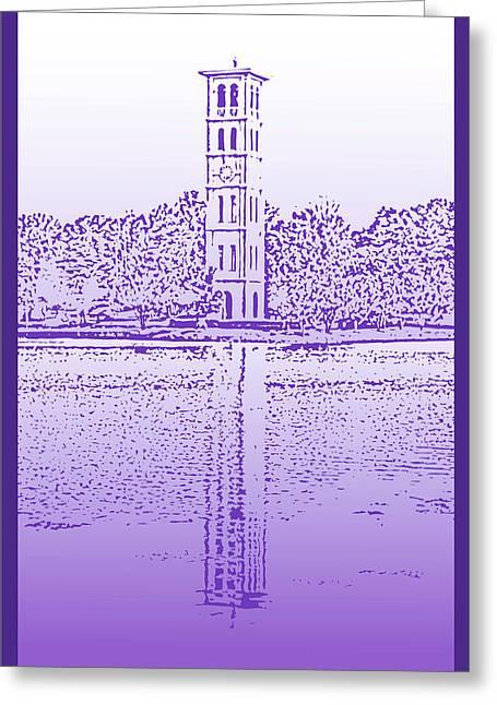 Furman Greeting Cards - Furman Bell Tower Greeting Card by Greg Joens