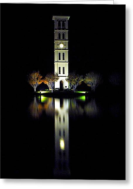 Liberal Greeting Cards - Furman University Tower  Greenville SC Greeting Card by Willie Harper