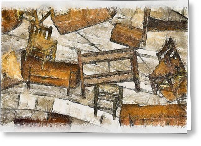 Pa Mixed Media Greeting Cards - Furniture Greeting Card by Trish Tritz
