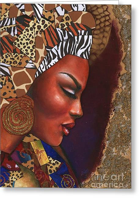 African-american Pastels Greeting Cards - Further Contemplation Greeting Card by Alga Washington