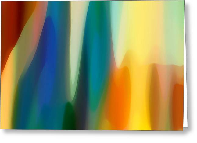 Abstract Rain Greeting Cards - Fury 6 Greeting Card by Amy Vangsgard