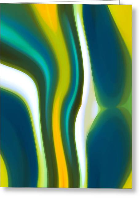 Abstract Seascape Greeting Cards - Abstract Tide 2 Greeting Card by Amy Vangsgard