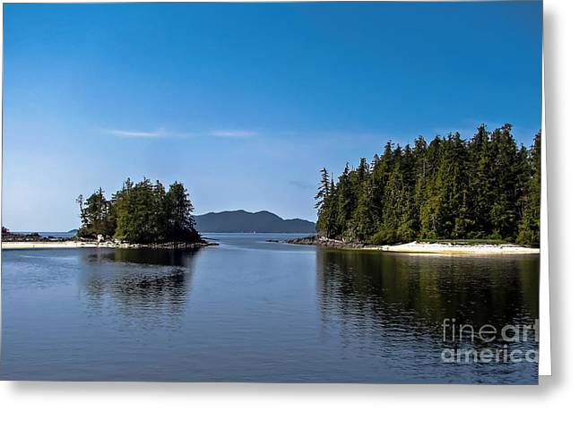Queen Charlotte Strait Greeting Cards - Fury Cove Greeting Card by Robert Bales