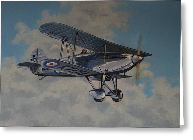 Murray Mcleod Paintings Greeting Cards - Fury II RAF Greeting Card by Murray McLeod