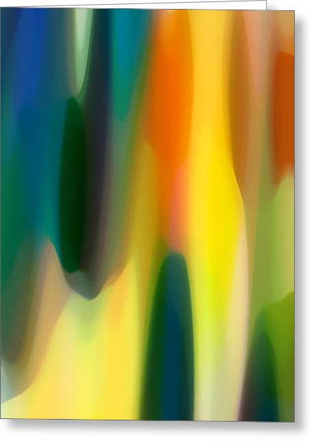 Panoramic Ocean Digital Greeting Cards - Fury Panoramic Vertical 1 Greeting Card by Amy Vangsgard