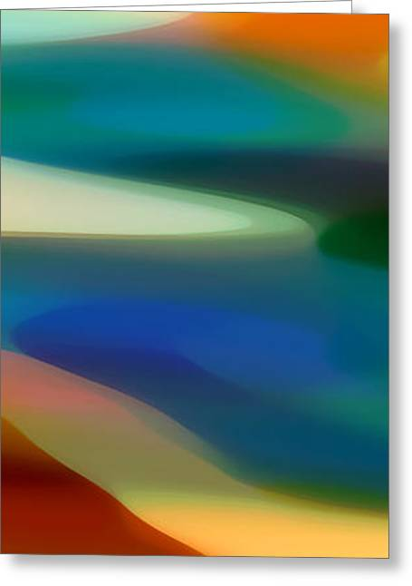 Abstract Forms Greeting Cards - Fury Panoramic Vertical 3 Greeting Card by Amy Vangsgard