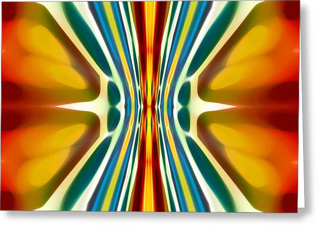 Abstract Seascape Greeting Cards - Fury Pattern 6 Greeting Card by Amy Vangsgard