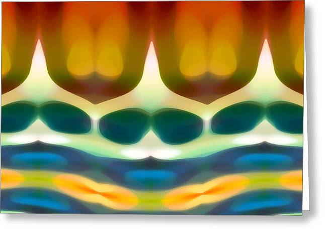 Abstract Art Greeting Cards - Fury Pattern 7 Greeting Card by Amy Vangsgard