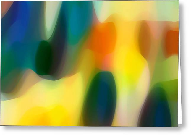 Abstract Rain Greeting Cards - Fury Rain 1 Greeting Card by Amy Vangsgard
