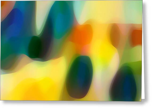 Abstract Seascape Digital Greeting Cards - Fury Rain 2 Greeting Card by Amy Vangsgard