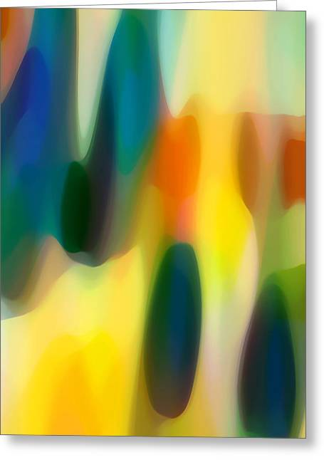 Abstract Rain Greeting Cards - Fury Rain 4 Greeting Card by Amy Vangsgard