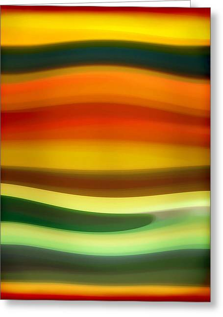 Sunset Abstract Greeting Cards - Fury Sea 6 Greeting Card by Amy Vangsgard
