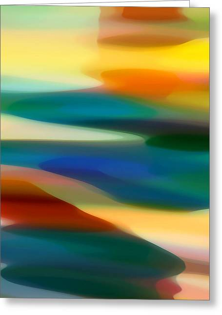 Abstract Beach Landscape Greeting Cards - Fury Seascape 3 Greeting Card by Amy Vangsgard