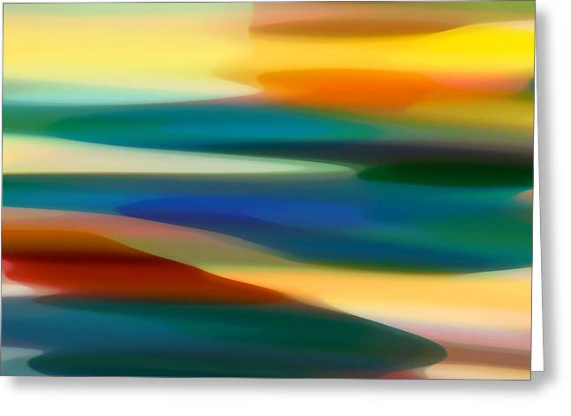 Abstract Seascape Digital Greeting Cards - Fury Seascape 4 Greeting Card by Amy Vangsgard
