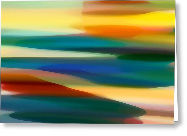 Abstract Seascape Digital Greeting Cards - Fury Seascape 6 Greeting Card by Amy Vangsgard