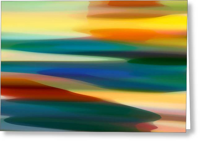 Abstract Landscape Greeting Cards - Fury Seascape 7 Greeting Card by Amy Vangsgard
