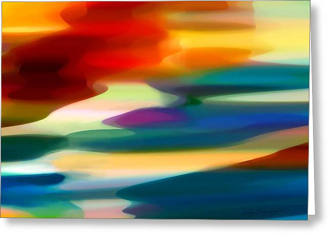 Abstract Beach Landscape Greeting Cards - Fury Seascape Greeting Card by Amy Vangsgard
