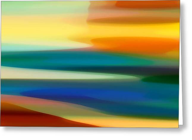 Fury Seascape II Greeting Card by Amy Vangsgard