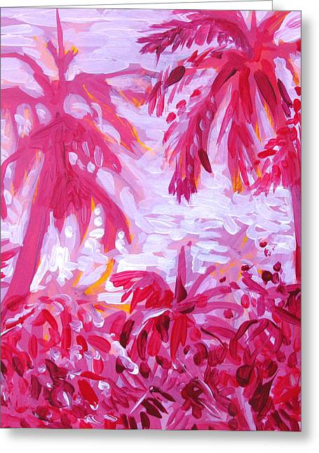Fuschia Landscape Greeting Card by Tilly Strauss