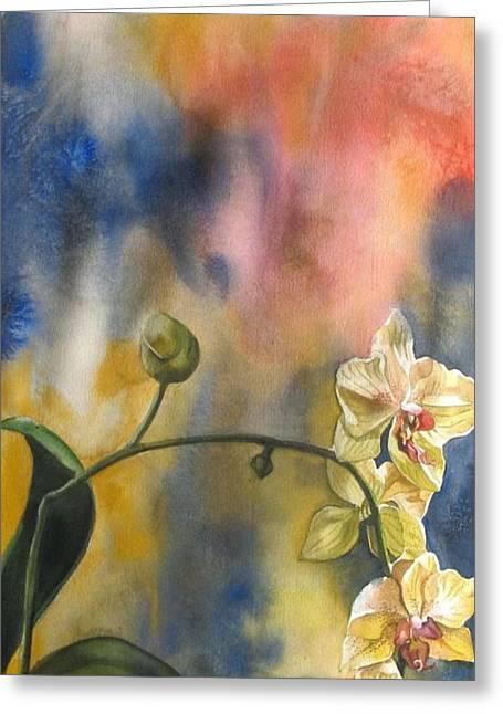 Alfred Ng Watercolor Greeting Cards - Fusion Orchid Greeting Card by Alfred Ng