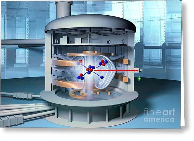 Fusion Reactor, Artwork Greeting Card by Hans-ulrich Osterwalder
