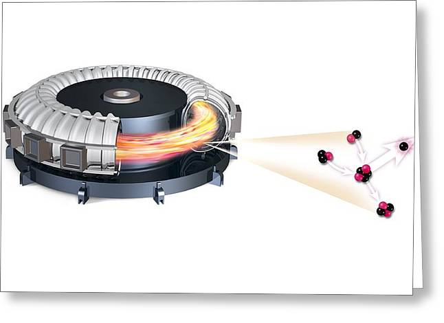 Helium Greeting Cards - Fusion reactor, artwork Greeting Card by Science Photo Library
