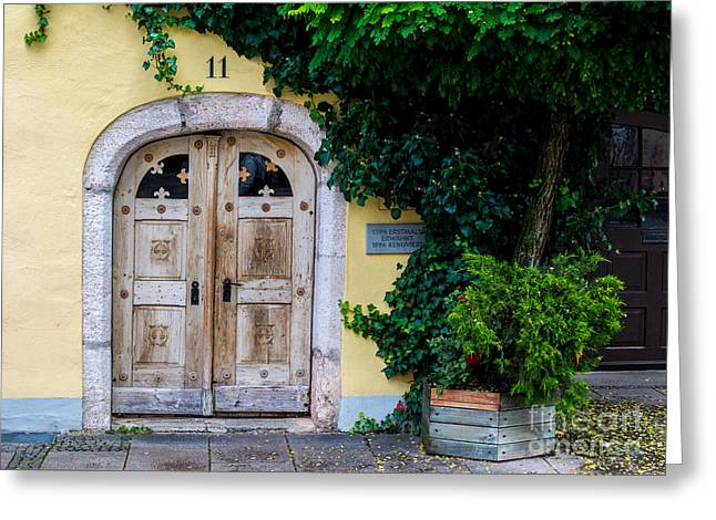 Entryway Greeting Cards - Fussen Old Town Ancient Door - Germany Greeting Card by Gary Whitton