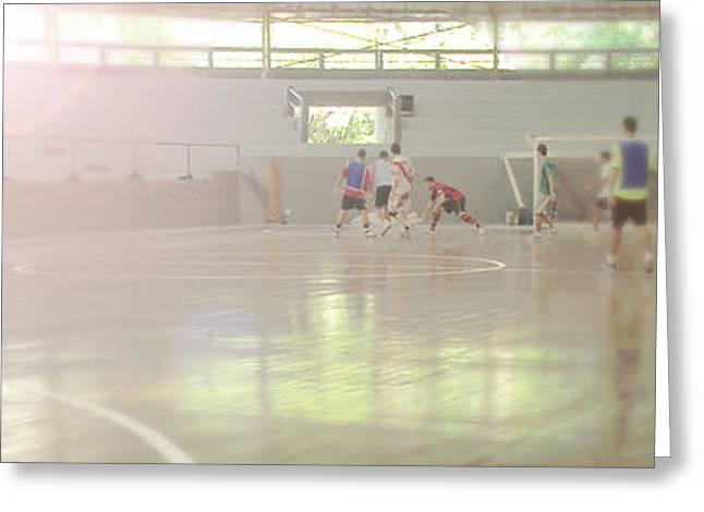 Futsal - Football court. Greeting Card by Rodrigo Cesar