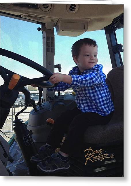 Steering Greeting Cards - Future American Trucker Greeting Card by Doug Kreuger