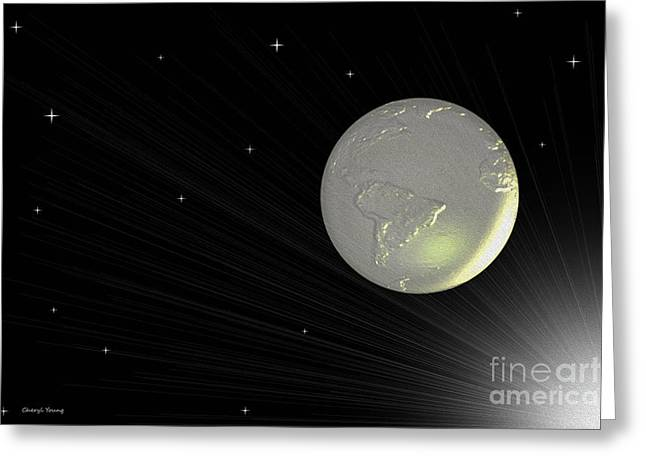 Abstract Digital Greeting Cards - Future Earth 2 Greeting Card by Cheryl Young