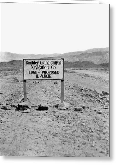Future Edge Of Lake Meade Greeting Card by Underwood Archives