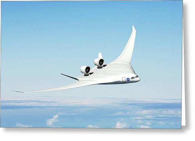 Future Hybrid Aircraft Greeting Card by Nasa/boeing