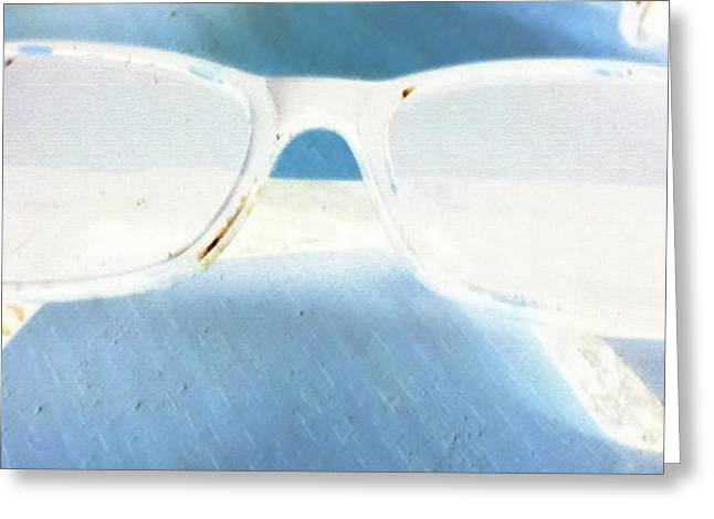 Eyeglasses Pastels Greeting Cards - Futures So Bright Greeting Card by Billy Cooper Rice