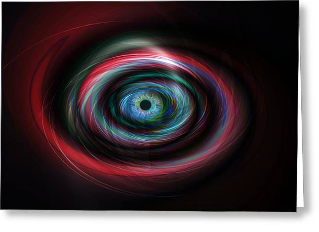 Future Tech Digital Art Greeting Cards - Futuristic light eye Greeting Card by Steve Ball