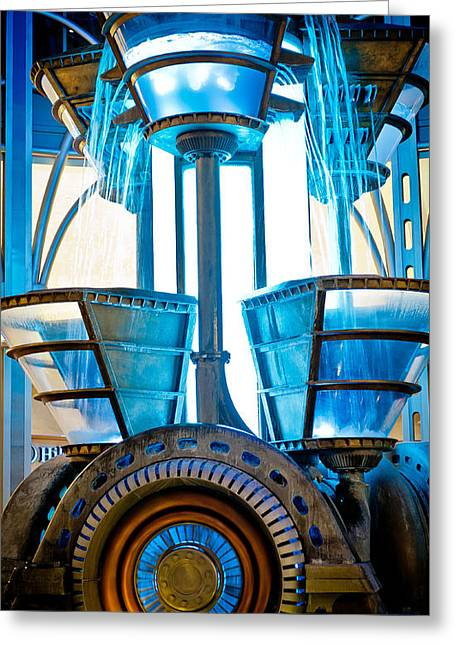 Recently Sold -  - Generators Greeting Cards - Futuristic Water Wheel I Greeting Card by Craig Roberts