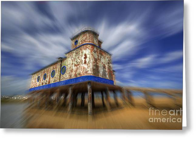 Blue Ria Greeting Cards - Fuzeta Lifeboat Station Greeting Card by English Landscapes
