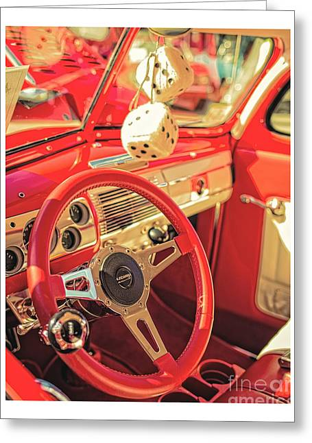 Lowrider Greeting Cards - Fuzzy Dice Greeting Card by Edward Fielding