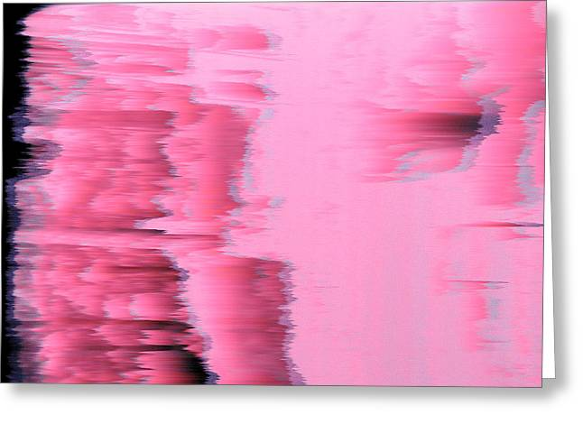 Brrrr Greeting Cards - Fuzzy Pink Ice Greeting Card by Brendan OMaidian