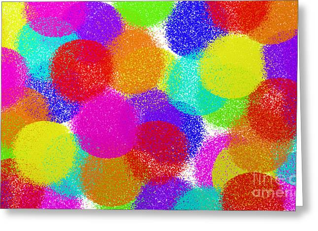 Youthful Greeting Cards - Fuzzy Polka Dots Greeting Card by Andee Design