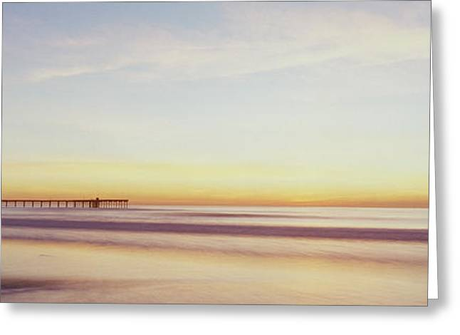 Tropical Oceans Greeting Cards - Fv5430, Luc Lavergne Sunset At Ocean Greeting Card by Luc Lavergne