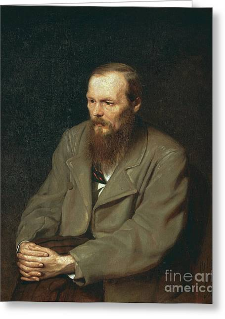 Exiles Greeting Cards - Fyodor Dostoyevsky Russian Author Greeting Card by Photo Researchers