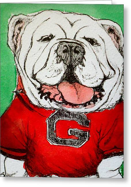 G Dawg Greeting Card by Pete Maier