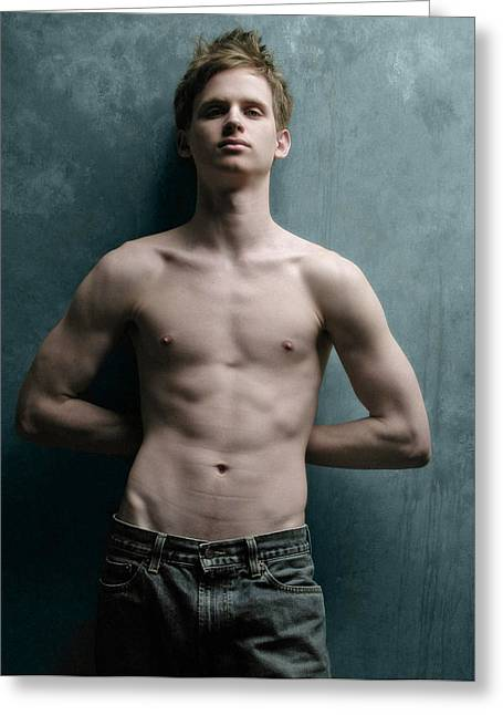 Male Torso Greeting Cards - G F 1 Greeting Card by Dave Milstead