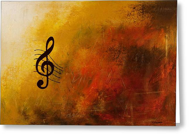 Poster Print Greeting Cards - G Symphony Greeting Card by Carmen Guedez