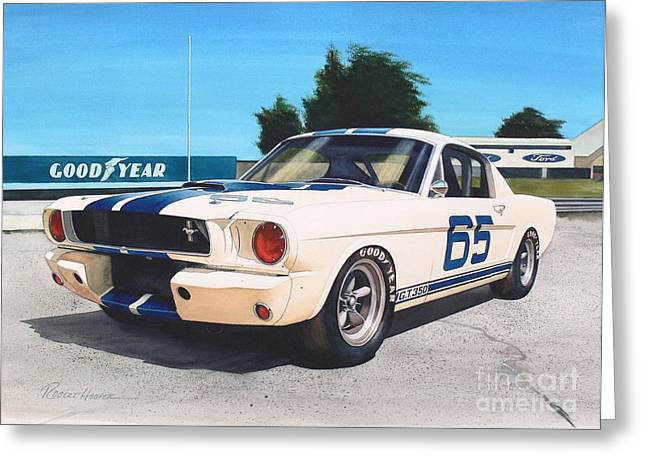 Mustang Gt350 Greeting Cards - G T 350 Greeting Card by Robert Hooper