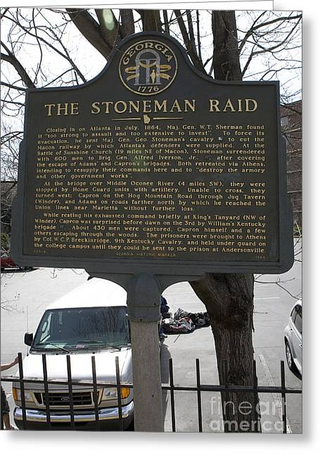 Civil War Battle Site Greeting Cards - GA-029-6 The Stoneman Raid Greeting Card by Jason O Watson