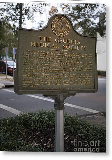 The Interests Of Society Greeting Cards - GA-25-004 The Georgia Medical Society Greeting Card by Jason O Watson