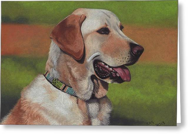 Labradors Pastels Greeting Cards - Gabe Greeting Card by Sherri Strikwerda
