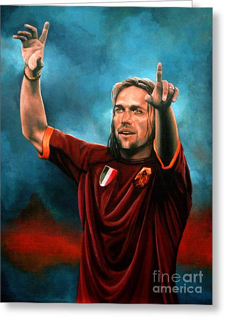 Cup Greeting Cards - Gabriel Batistuta Greeting Card by Paul  Meijering